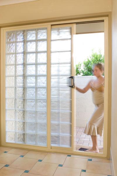 Sliding Doors With Glass Blocks
