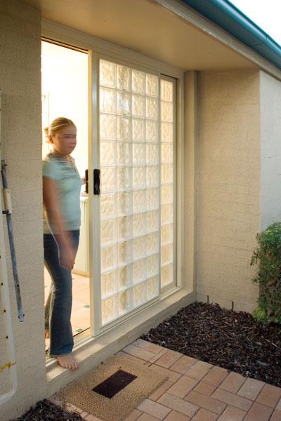 Blokup Glass Block House Sliding Doors